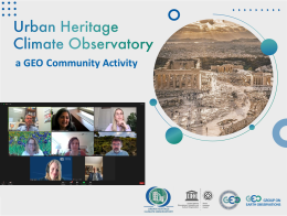 APCG in GEO's Urban Heritage Climate Observatory (UHCO) Community Activity