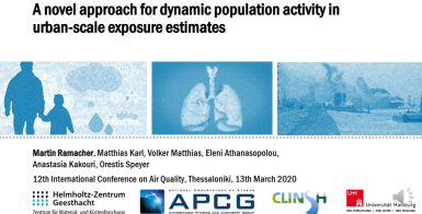 Estimates of population exposure at the air pollution levels in Athens: a collaborative work of APCG and researchers from the Helmholtz Center
